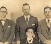 Alven, Gerald, Leonard and Dora (Mama) Ghertner