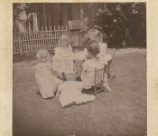 Copy (2) of 1901 July 23 Em Block Scharff's tea party