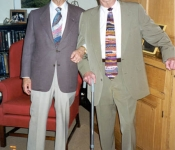 Alven & Gerald Ghertner at Gerald's 80th birthday 1996 - hi-res