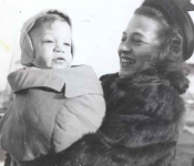 Gary Ghertner with mom Jean Ghertner 11 months old