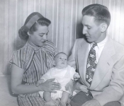 Jean (Mom) , Gary Ghertner (age 2.5 months) and Leonard Ghert
