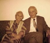 Anuta and Avram Ghertner on corina's wedding day