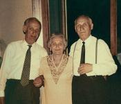 Avram Ghertner, Anutza Ghertner (Oscar),Victor Fraga Picture 4-08-1974 , Sala Comunitatii evreiesti din Bucuresti