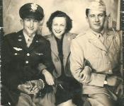 1943 Melvin & Harriet Goldberg and Leslie Gruber