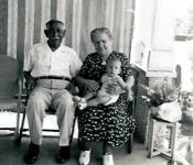1949 Grandpa Gruber, Granny Gruber and Jay