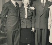 Lynton (Pappy) Scharfff, Em Scharff, Leslie and Faylese Grube
