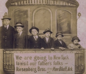 Early 1900s Riesenberg Brothers on the train