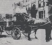 Pine Bluff fire dept wagon early 1900s