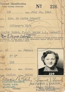 1942 Em Scharff's Milatary ID