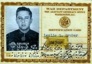 Maj Leslie Gruber, Military ID (1944)