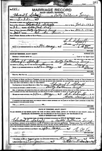 Eduard Scharff & Betty Terry Marriage record