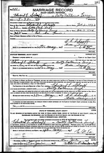 Eduard Scharff & Betty Terry Marriage record