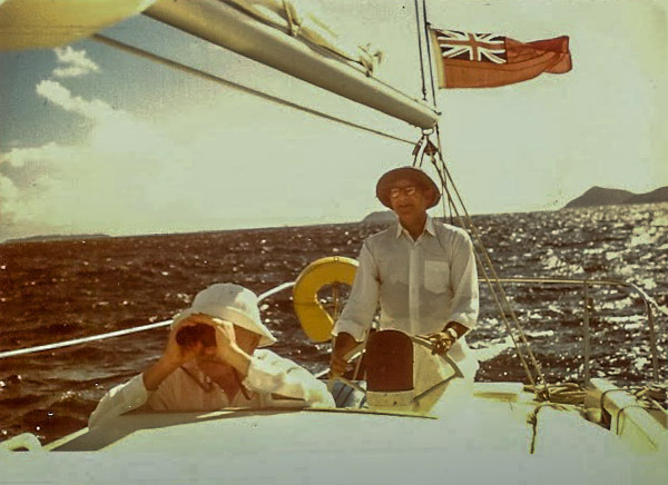 1966 El and Pappey on the Sheryl, Terry Lee Sailboat