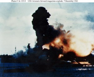 USS Arizona magazine explodes