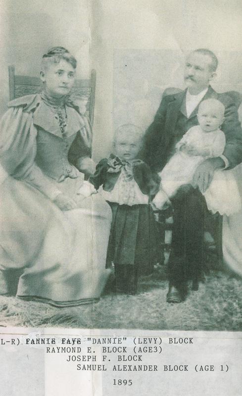 """""""Dannie"""", Joseph, Raymond & Sam Block in 1895"""