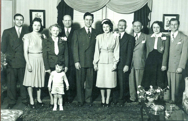 1947 Mom and Dad's wedding