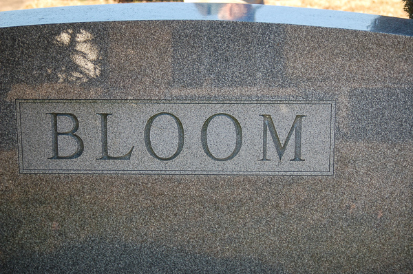 Bloom Family headstone