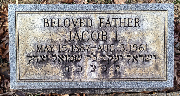 Jacob I Bloom (1887-1961)