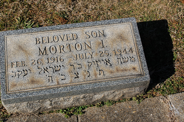 Morton I Bloom (headstone in Baltimore)
