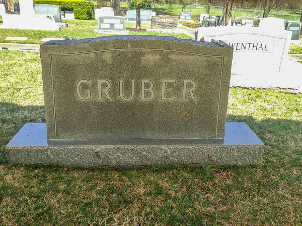 Gruber family headstone